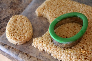 cut the krispies with a egg cutter