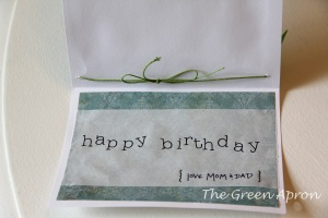 inside of handmade card