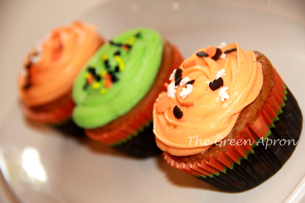 Pumpkin Cupcakes with Creamcheese frosting
