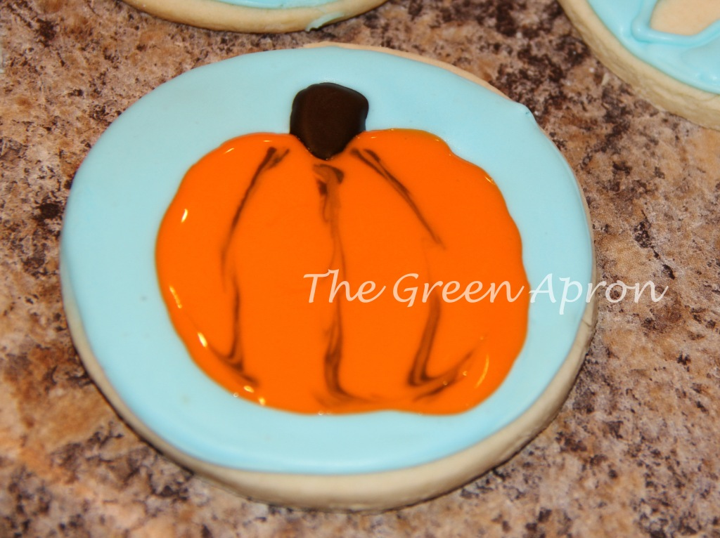 finished pumpkin cookie