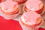 Pink Lemonade Cupcakes with Sparkling Fondant Toppers